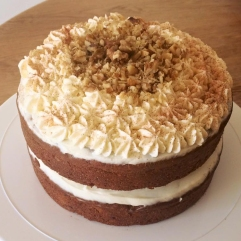 Carrot Cake with Cream Cheese and Walnuts